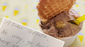 'Racist coward' targets gelato shop with vile note
