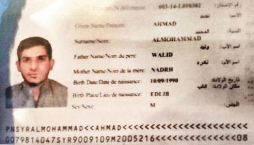 Photo emerges of passport allegedly belonging to Paris attacker