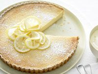 Baked ricotta and lemon tart