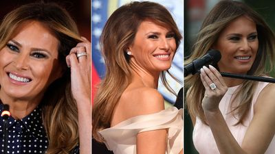 Melania Trump's impressive collection of diamond jewels