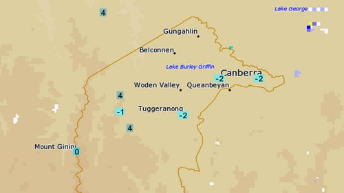 'Frosty temperatures' for Canberra this morning, BoM predicted.