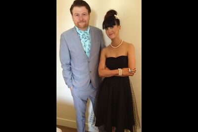 """@JaneGazzo: """"Getting ready to go to the @astraevent with my @MAXmusicTV on-screen husband Chit Chat."""""""