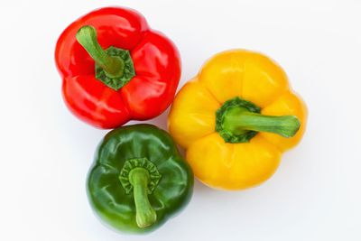 Green and red capsicum