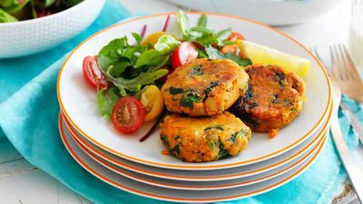 "Recipe: <a href=""http://kitchen.nine.com.au/2017/05/29/11/41/sweet-potato-and-lenti-patties"" target=""_top"">Sweet potato and lentil patties</a>"