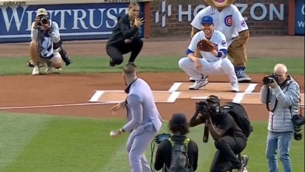 Conor McGregor rivals 50 Cent for worst baseball pitch ever thrown
