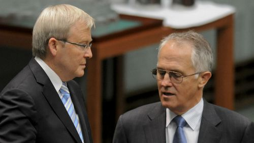 Turnbull has to take on Liberal Party 'nutjobs', Rudd says