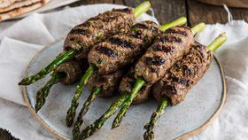 BBQ Lamb and asparagus kofta
