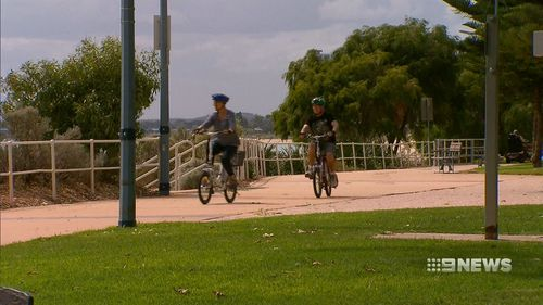 The 59-year-old is calling for the City of Rockingham to look at banning cyclists on the footpath. (9NEWS)