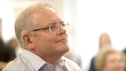 Scott Morrison at today's announcement.