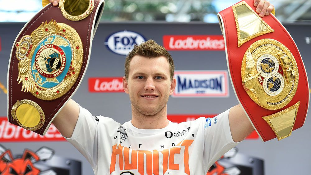 Jeff  Horn's will learn of the next step on his path to a world title. (AAP)
