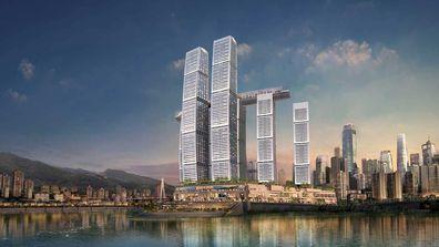 Raffles City Chonqing rendering