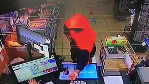 CCTV from the robbery. (9NEWS)
