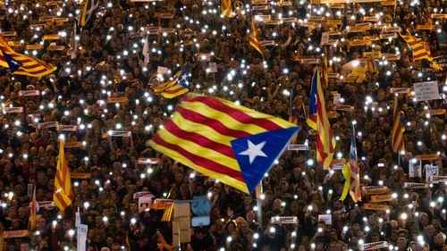 Spanish PM urges Catalans to defeat separatists at polls