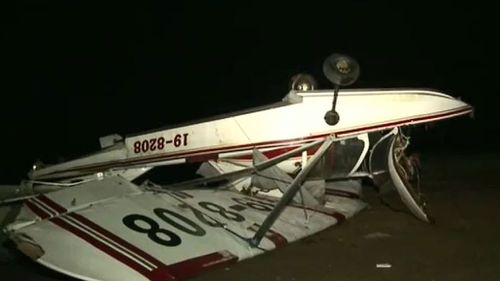 Storms ruin planes and 12 buildings in Camden overnight. (9NEWS)