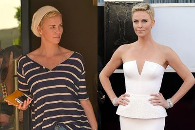 Charlize could wear a paper bag and look attractive, but a touch of Christian Dior Couture certainly helps!
