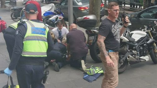 Trent Churchill was one of many caught in the Bourke Street carnage.
