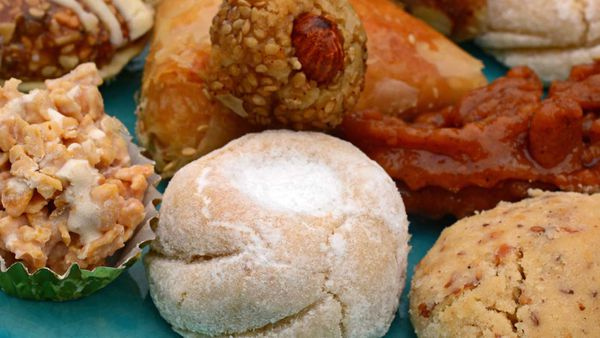 Moroccan street eats pastries