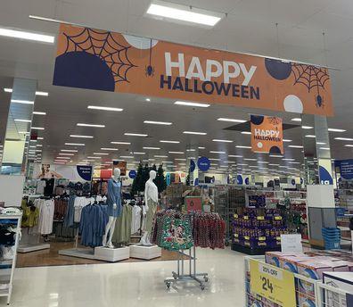 Halloween merchandise in stores