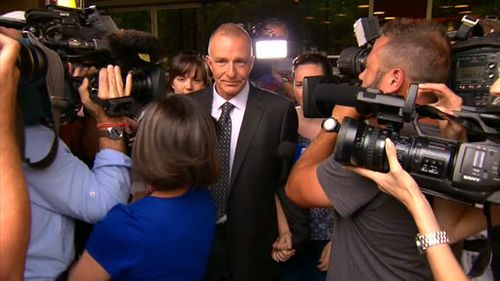Henry Keogh walks free after 20 years in jail. (9NEWS)
