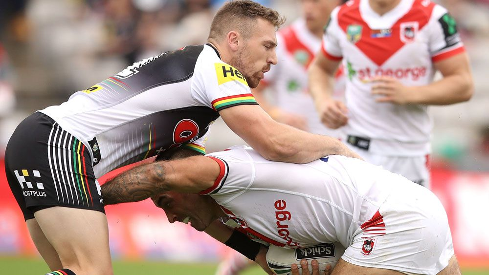 Bryce Cartwright in action against the Dragons in round one. (Getty Images)