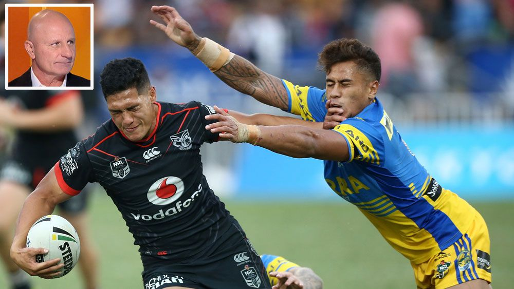 """Channel Nine commentator Peter Sterling slams Parramatta's defence in """"Sterlo's Wrap-Up"""""""