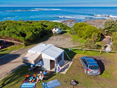 Marengo Holiday Park tent accommodation