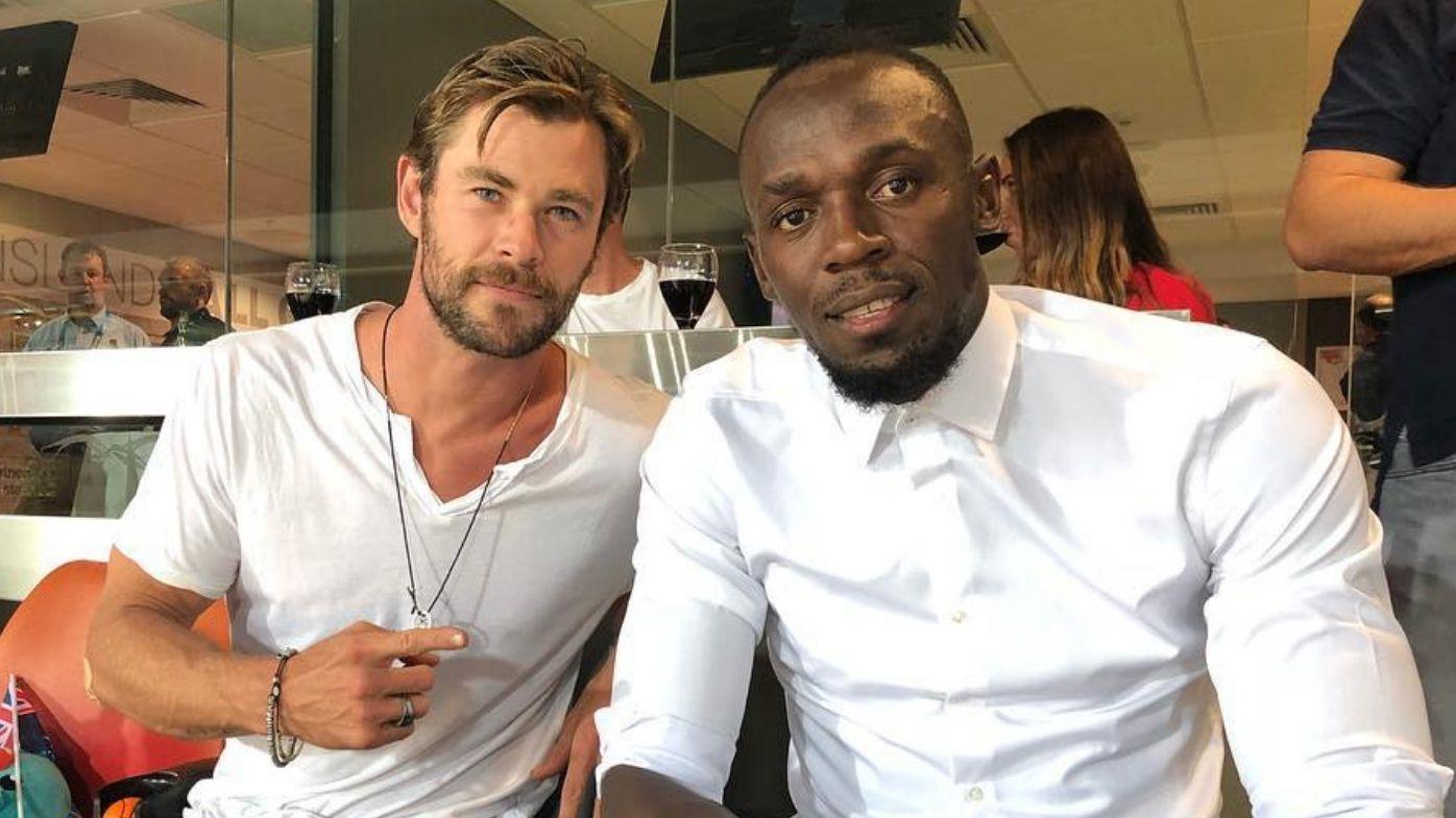 Usain Bolt_Chris Hemsworth_Gold Coast