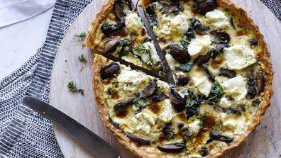 Monday: Spinach, ricotta and mushroom quiche