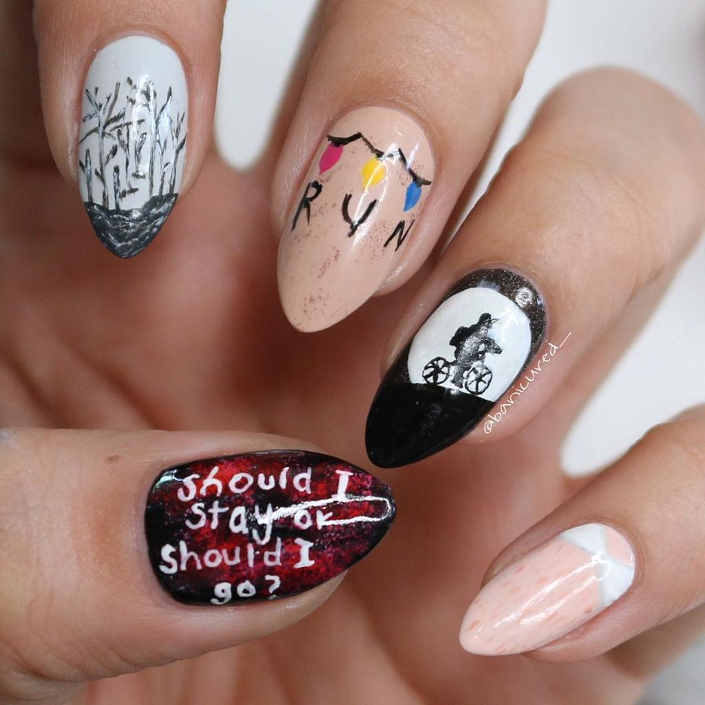 The Stranger Things trend on the tip of your fingers
