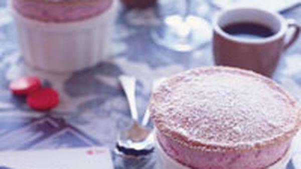 Bill Granger's raspberry soufflés