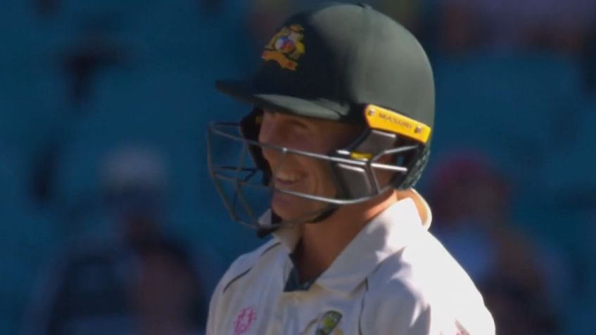 Marnus Labuschagne has a laugh.