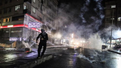 Mr Elci's death sparked violent protests in Turkey. (AAP)