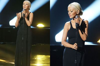 "On the verge of tears as she belted out a sensual number on <i>The Voice</i>, the star showcased her trim bod. <i>Life & Style</i> reported Christina's exact diet as being ""one that avoids empty calories like alcohol and saves comfort food for very special occasions."" <br/><br/>However, Beverley Hills surgeon Dr Lance Wyatt believes that her extreme weight loss was due to surgery: ""She may have had liposuction on her body and a tummy tuck for a flatter abdomen and more narrow waistline."" <br/>"