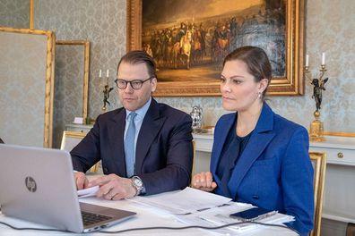 Swedish royals working in isolation coronavirus Crown Princess Victoria