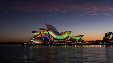 Sydney Opera House lights up for Australia Day