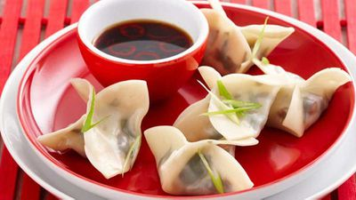 "Recipe:<a href=""http://kitchen.nine.com.au/2016/05/17/10/07/steamed-spinach-shitake-dumplings"" target=""_top"" draggable=""false"">Steamed spinach & shitake dumplings</a>"