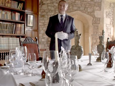 Grant Harrold, The Royal Butler shows how to lay a dinner table 1