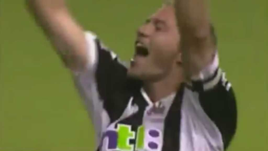 Shearer leaps high for stunning header