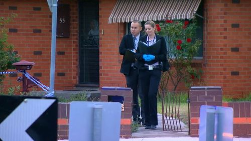 A man has been shot, reportedly in front of his family, in Melbourne this morning. (9NEWS)