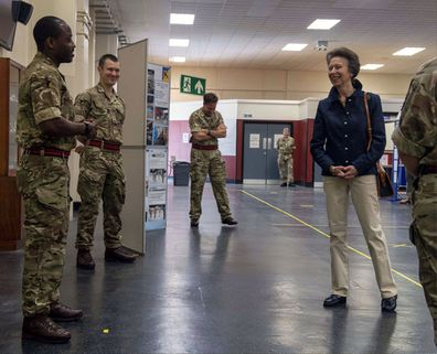 Princess Anne, The Princess Royal visited the Duke of Gloucester Barracks to meet with British Army personnel