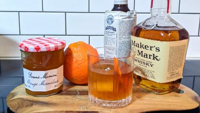 Jimmy Brings marmalade old fashioned