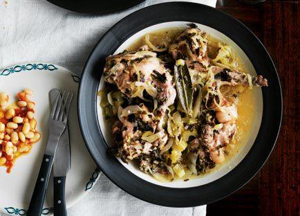 Coniglio al forno (roast rabbit)