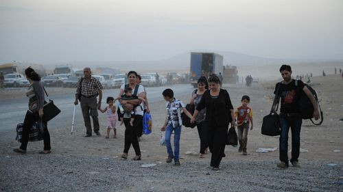 Formerly a Christian stronghold the Iraqi town of Tal Kayf is now in the hands of the Islamic State, forcing thousands to flee. (Getty Images)