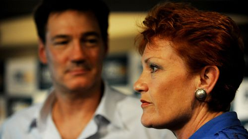 One Nation leader Pauline Hanson (right) with her former advisor, David Oldfield.