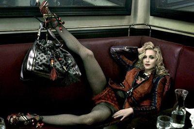 Of course, Madonna has long since mastered the art of spreading her legs for the camera.