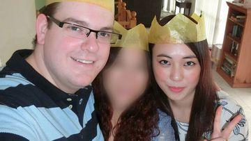 Derek Barrett and his niece Mengmei Leng.