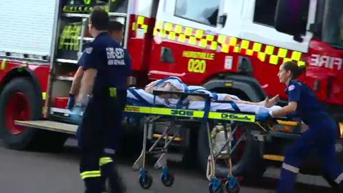 An elderly couple in Sydney were found unconscious in their homes during yesterday's heat and had to be taken to hospital. (9NEWS)