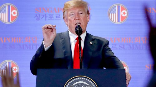 """South Korea's Presidential Blue House said it needed to """"to find out the precise meaning or intentions"""" of Trump's statement. Picture: AP"""