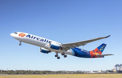 Aircalin plane taking off