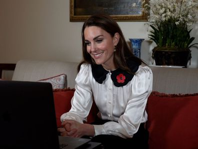 Kate Middleton on Remembrance week video call
